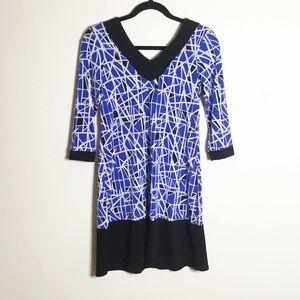 Leota Olivia Shift Dress Geometric Print